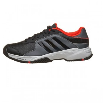 Кроссовки ADIDAS Barricade Court Black White Solred