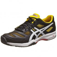 Кроссовки ASICS Gel Solution Slam 2 Black White Yellow