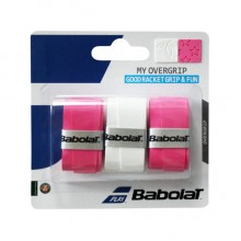 Намотка BABOLAT MY OVRGRIP X3 White Pink