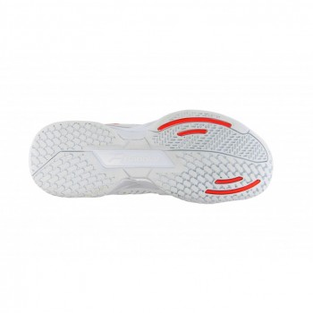 Кроссовки BABOLAT PROPULSE TEAM AC W WHITE/FLUO RED
