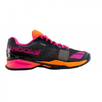 Кроссовки BABOLAT JET ALL COURT W GREY/ORANGE/PINK