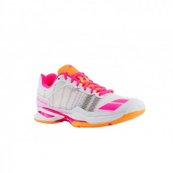 Кроссовки BABOLAT JET TEAM ALL COURT W WHITE/ORANGE/PINK