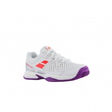 Кроссовки BABOLAT PULSION ALL COURT JR WHITE/FLUO RED