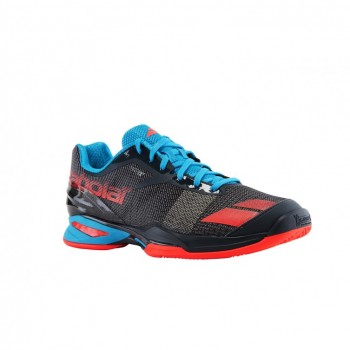 Кроссовки BABOLAT JET CLAY JUNIOR GREY/RED/BLUE