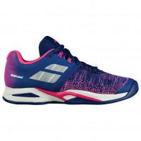 Кроссовки Babolat PROPULSE BLAST CLAY W BLUE/PINK/SILVER