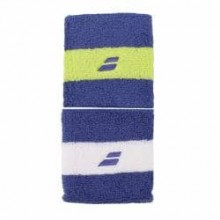 Напульсник BABOLAT Reversible Wrisband X2 Blue Yellow