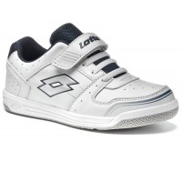 Кроссовки LOTTO S2353 SET ACE IX JR SL White Navy Blue Silver