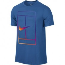 Футболка NIKE IRRIDESCENT COURT TEE Blue