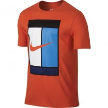 Футболка NIKE TUN-0-1037 COURT GRAPHIC CREW Red Blue