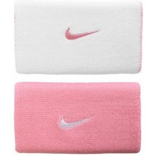 Напульсник NIKE TAN-166 PREMIER HOME  AWAY DOUBLE WIDE WRISTBANDS Pink White